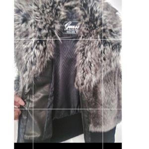 Guess faux fur vest